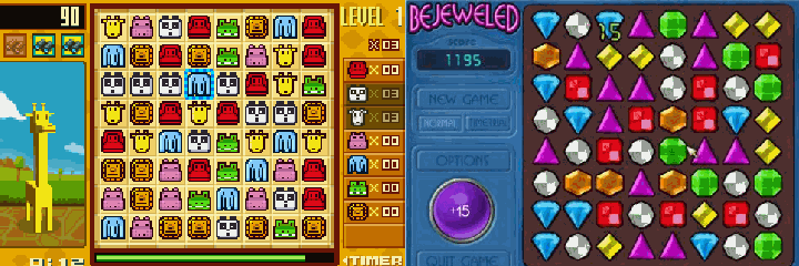 Zooo vs Bejeweled