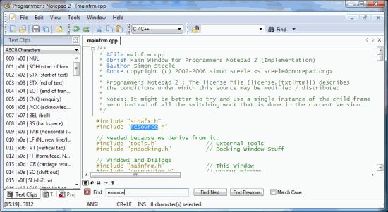 Programmer's Notepad